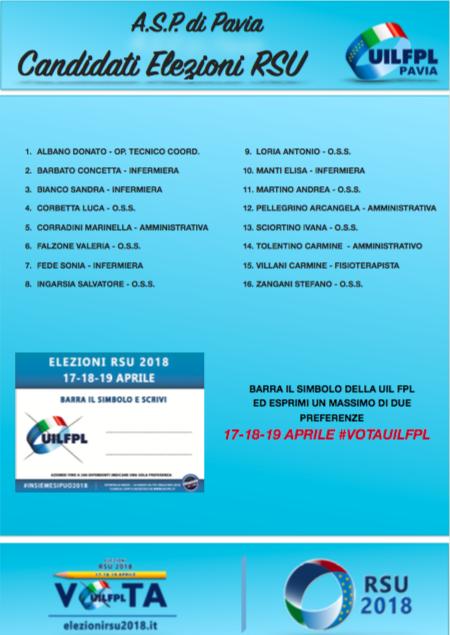 Lista candidati ASP