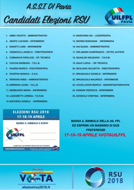 lista candidati ASST