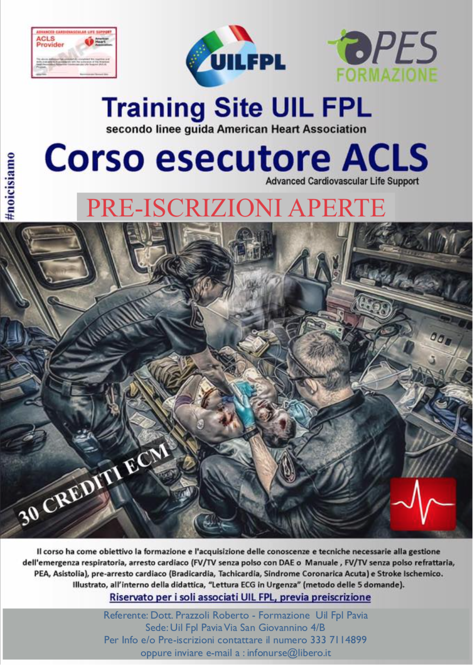 Corso esecutore ACLS - Advanced Cardiovascular Life Support