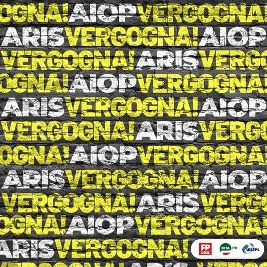 PADRONI PREDONI :AIOP ARIS - VERGOGNA ! Presidio presso Prefettura di Pavia
