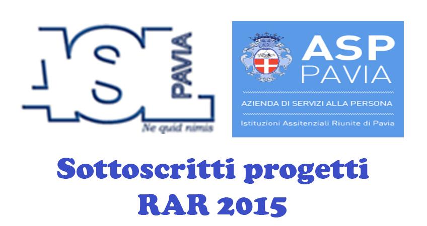 ASL e ASP Pavia: sottoscritti progetti RAR 2015