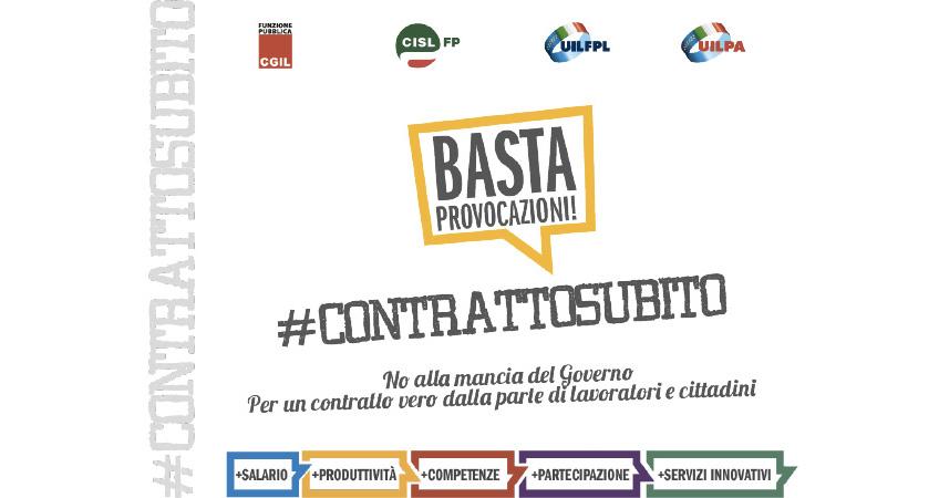 Rinnovo contratto pubblici dipendenti: avviato il percorso di mobilitazione territoriale