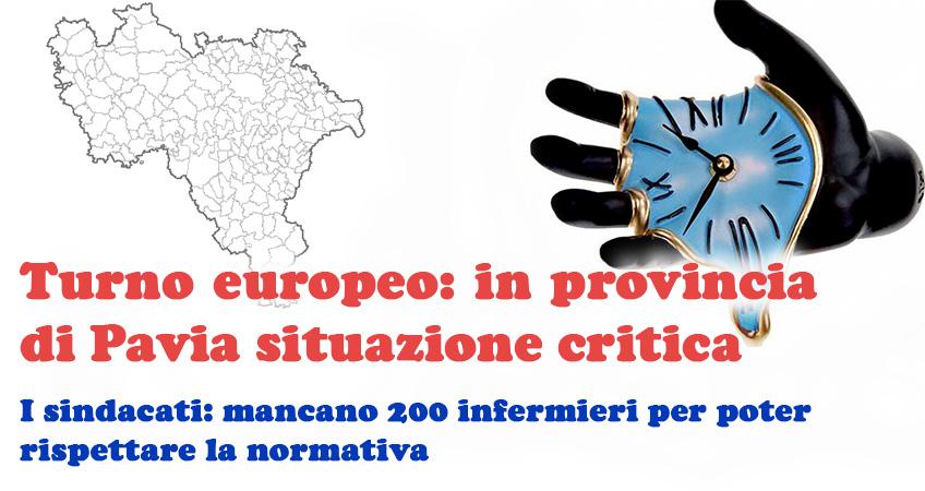 Turno europeo. L'allarme dei sindacati: in provincia di Pavia mancano 200 infermieri