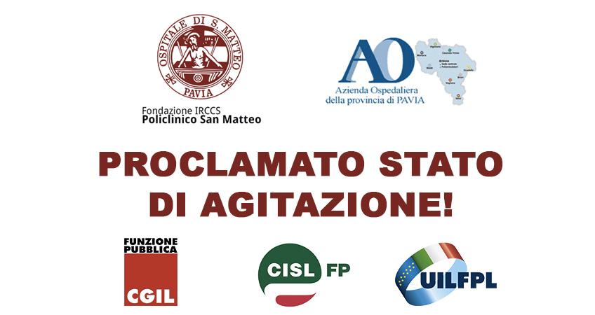 San Matteo e Azienda Ospedaliera: CGIL, CISL e UIL FPL proclamano lo stato di agitazione
