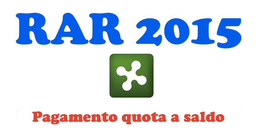 RAR 2015: a marzo verrà pagata la quota a saldo