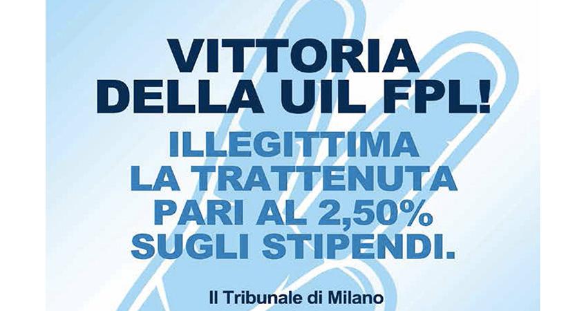 Trattenuta del 2.50% sul TFR: prima sentenza positiva dal tribunale di Milano