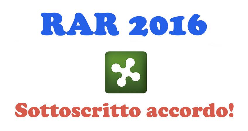 Sottoscritto accordo RAR 2016 per il personale del Comparto