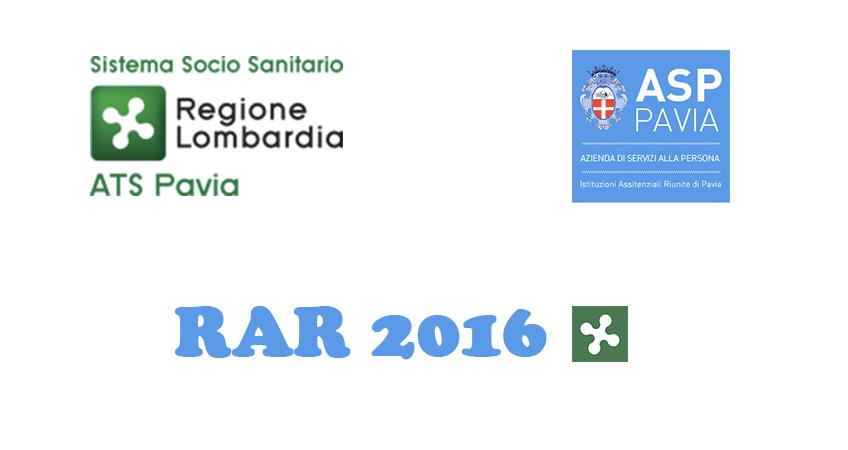 ATS Pavia e ASP Pavia: sottoscritti accordi obiettivi RAR 2016