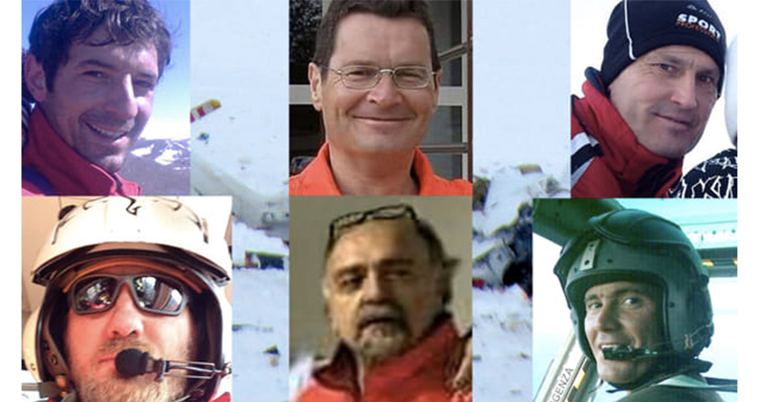 Cordoglio alle vittime dell'elicottero di soccorso precipitato in Abruzzo