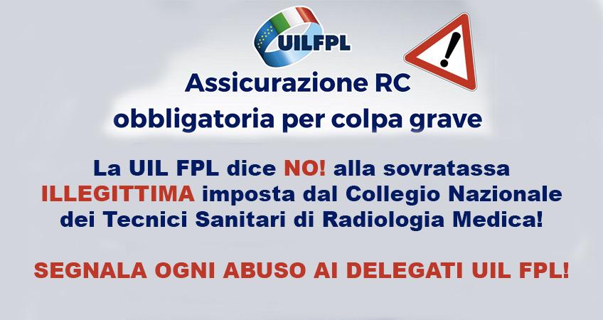 """Collegio professionale TSRM obbliga una """"sovrattassa ILLEGITTIMA"""" per tutti lavoratori per effetto della legge Gelli"""