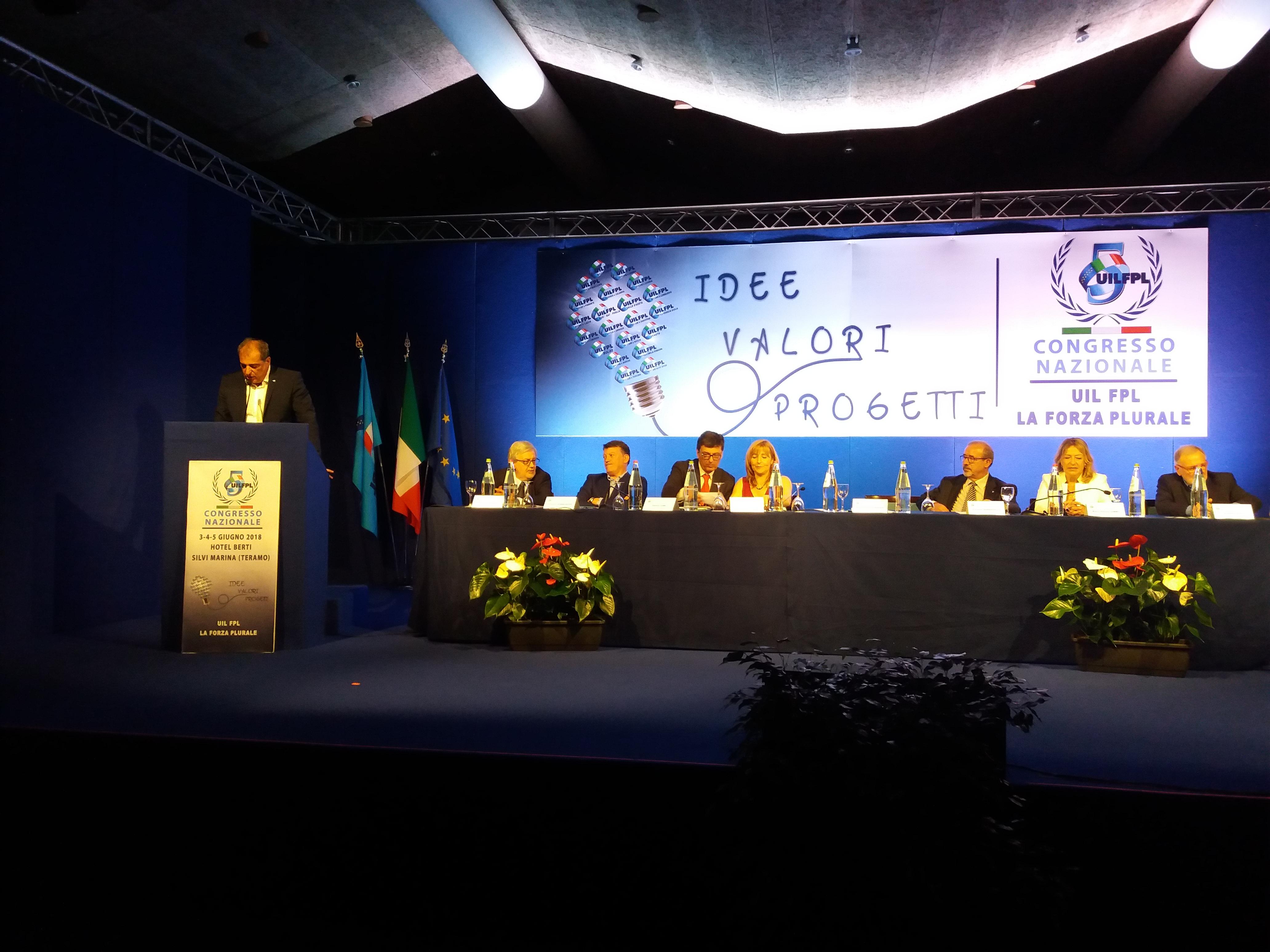 V Congresso UIL FPL - Riconfermato il Segretario Nazionale Michelangelo Librandi