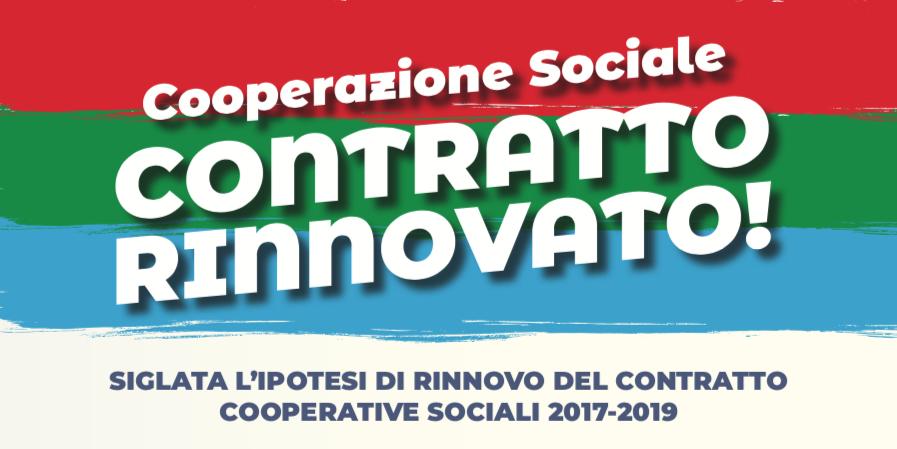 Sottoscritta la pre-intesa del CCNL Cooperative Sociale 2017-2019