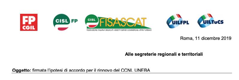 Contratti: Cgil Cisl Uil, firmata ipotesi rinnovo Uneba per Terzo Settore