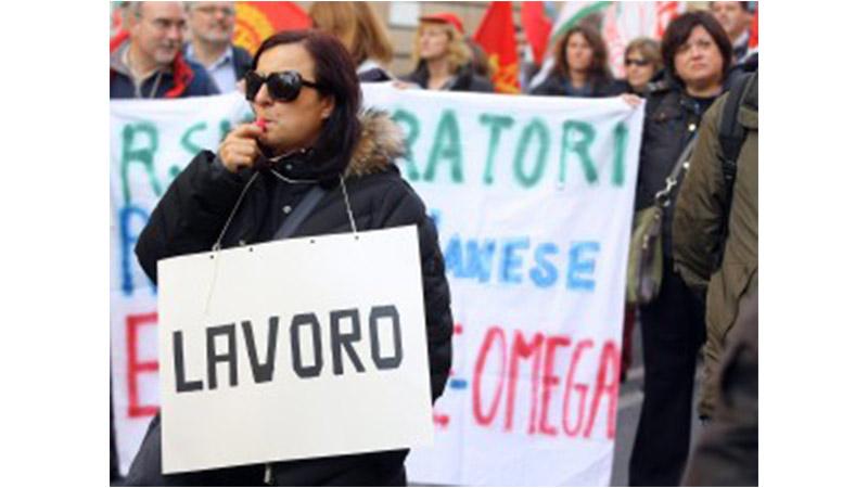 Uil: la crisi ha toccato un italiano su tre, sparito un milione di posti