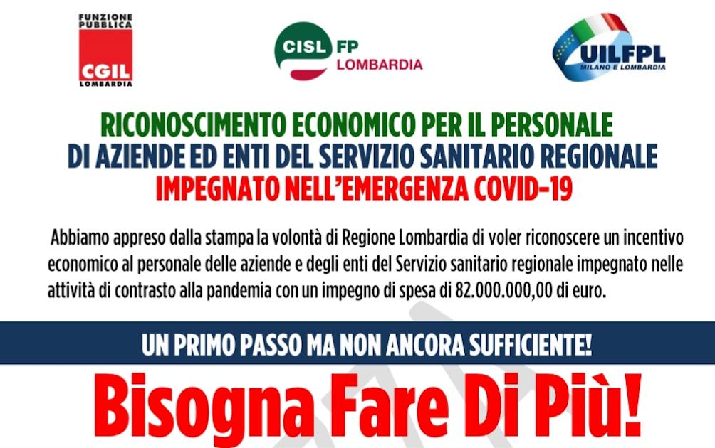 """Riconoscimento economico per il personale sanitario - UIL FPL CGIL FP CISL FP """" BISOGNA FARE DI PIU'!"""""""