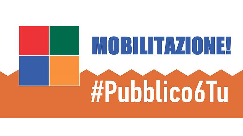 #Pubblico6Tu: parte domani 4 ottobre dai servizi pubblici locali la mobilitazione