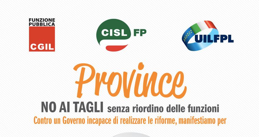 Provincie: il Parlamento difenda i servizi, il 16 dicembre presidio a Roma