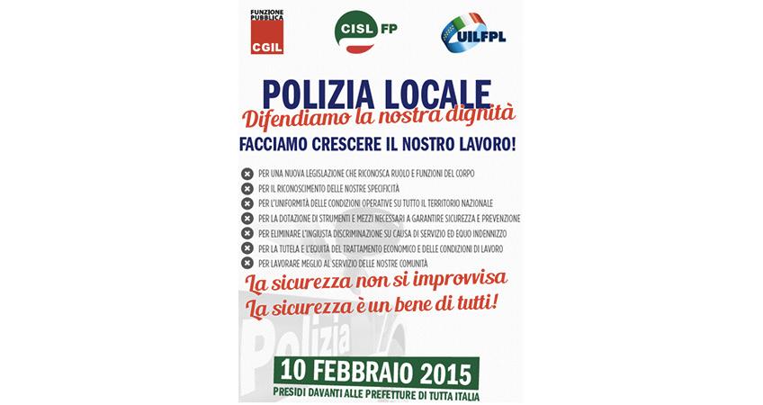 "Cgil Cisl Uil: ""Polizia Locale, Mobilitazione Nazionale"""