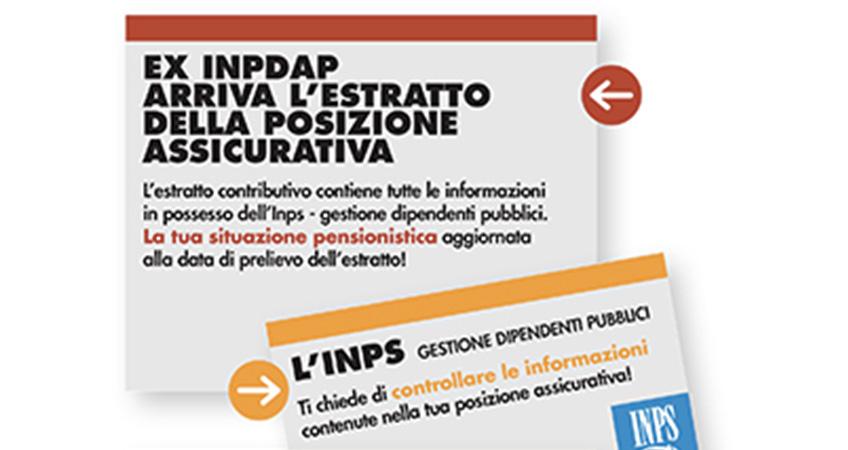 Avvio campagna della rettifica/verifica delle posizioni assicurative dei lavoratori del comparto pubblico