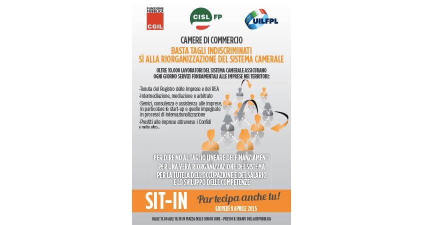 CCIAA - Sit-in unitario dei lavoratori delle Camere di Commercio.