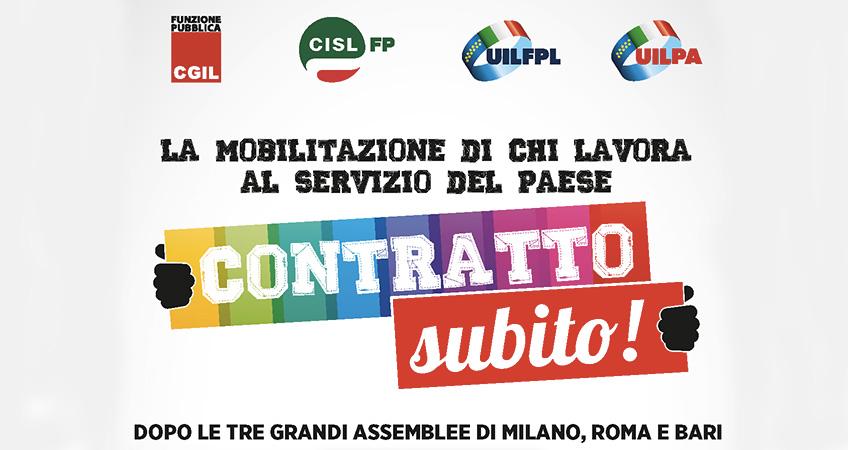 Pubblico impiego: Cgil Cisl Uil, contratto subito e riforma Pa, 29 luglio manifestazione a Roma