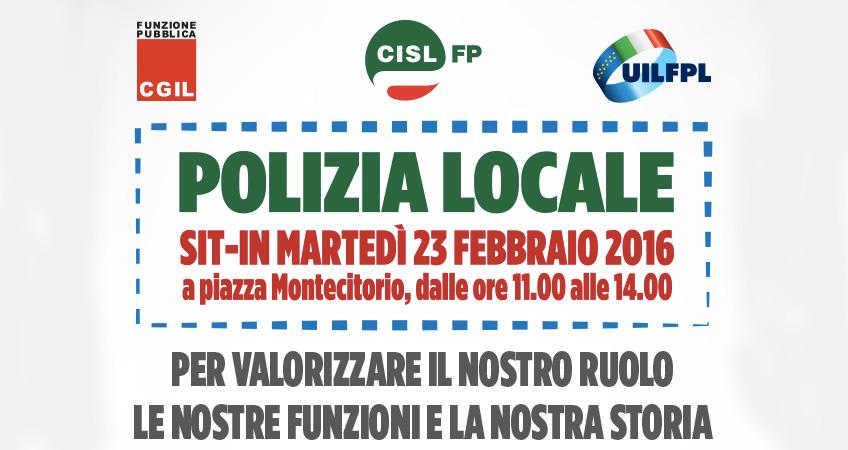 23 febbraio – SIT-IN nazionale unitario Polizia Locale