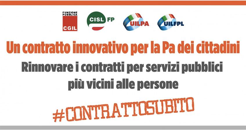 Pa, Cgil Cisl Uil: un contratto innovativo per la Pa dei cittadini