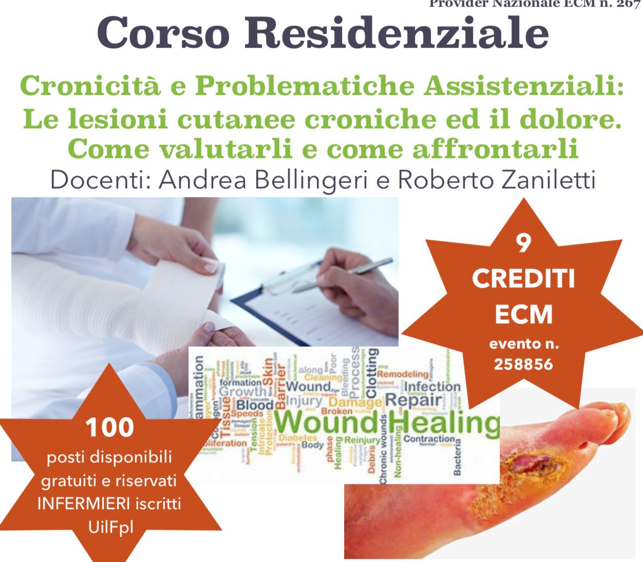 Corso Residenziale - Cronicità e Problematiche Assistenziali : Le lesioni cutanee croniche ed il dolore. Come valutarli e come affrontarli