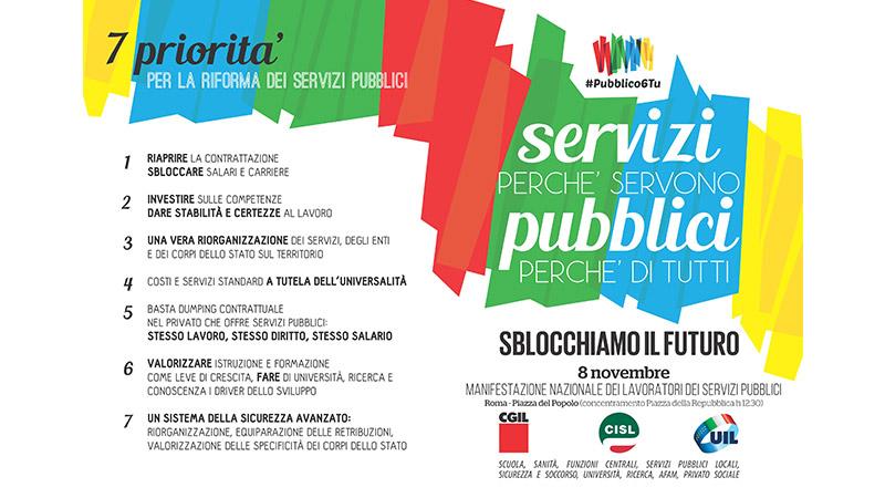#Pubblico6Tu: manifestazione nazionale servizi pubblici