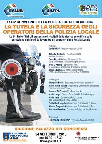 Riccione. 24 Settembre 2015 – XXXIV Convegno della Polizia Locale